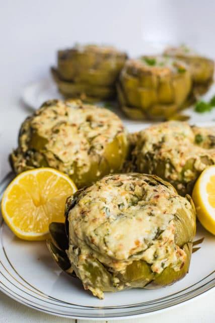 Instant Pot Stuffed Spinach Dip Artichokes recipe