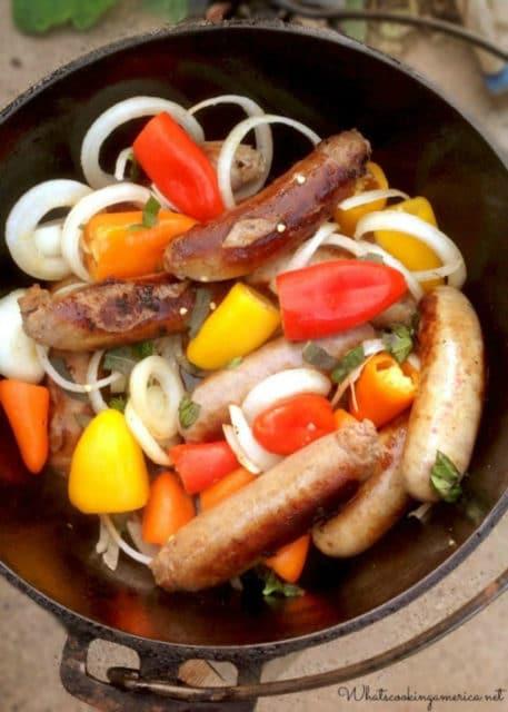 Dutch Oven Beer & Sausage