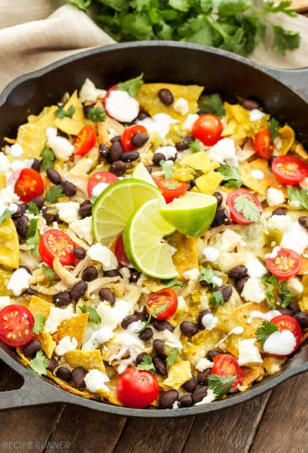 Green Chile Chicken Chilaquiles