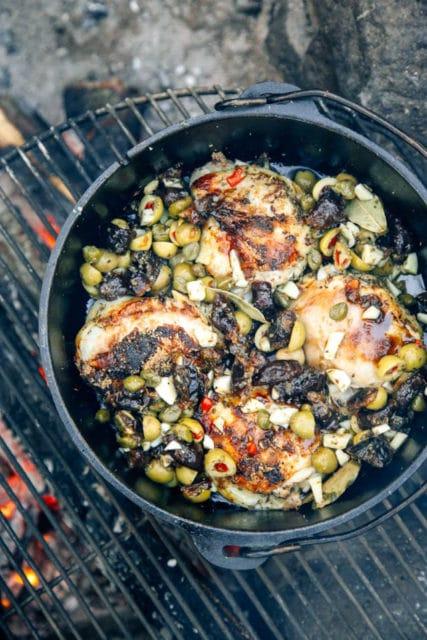 Dutch oven chicken marbella
