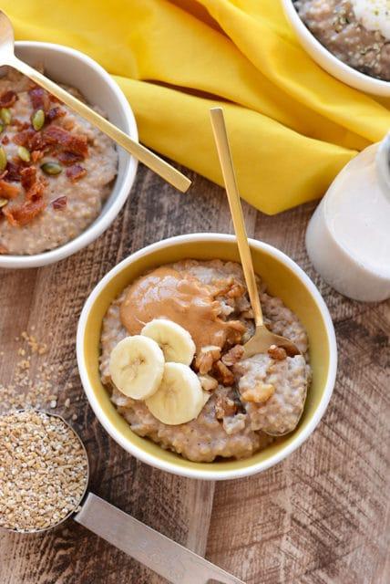 maple cinnamon crockpot steel cut oats recipe