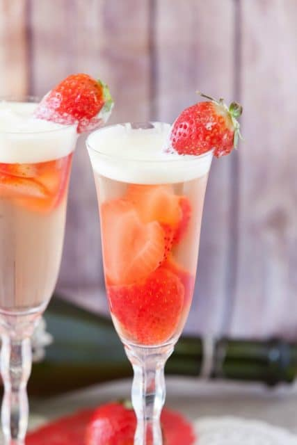 low calorie champagne jello parfaits