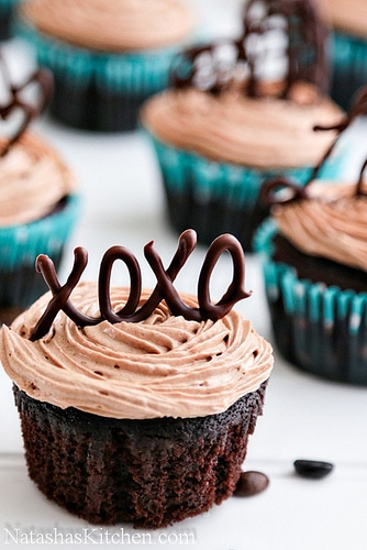 Say it with Chocolate Edible XOXO Cupcakes