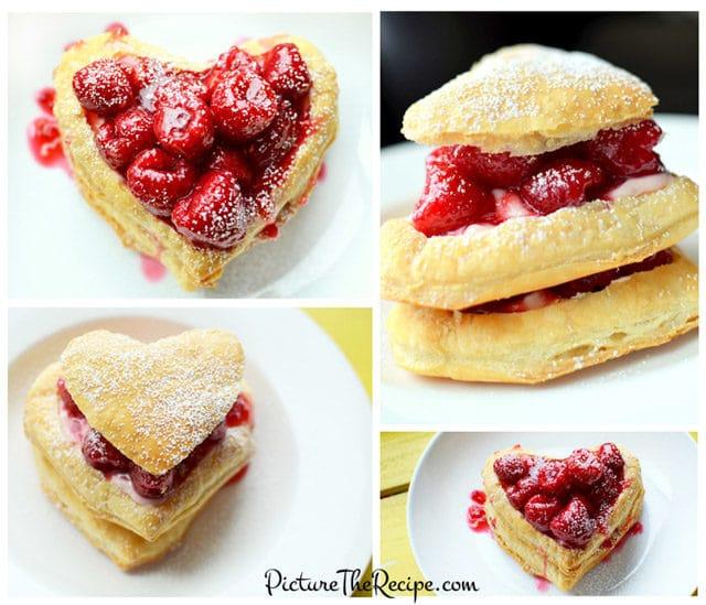 raspberry napoleon valentines day special