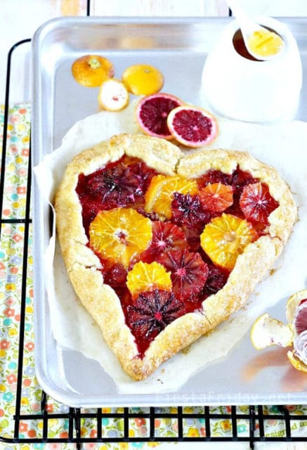 blood orange tart valentines day