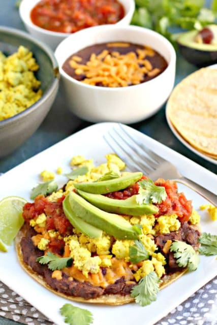 Tofu Scramble Breakfast Tostada