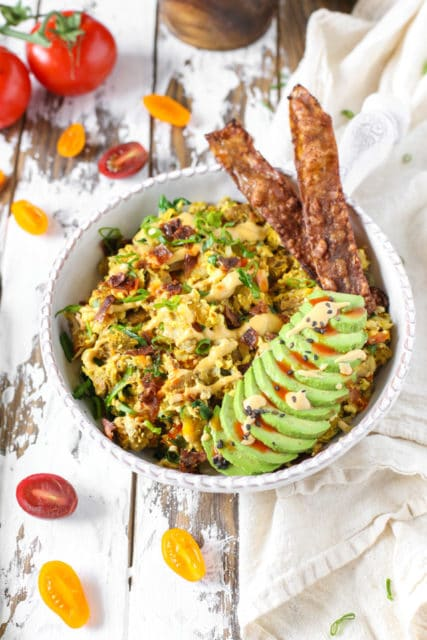 Vegan Breakfast Scramble Bowl for Two