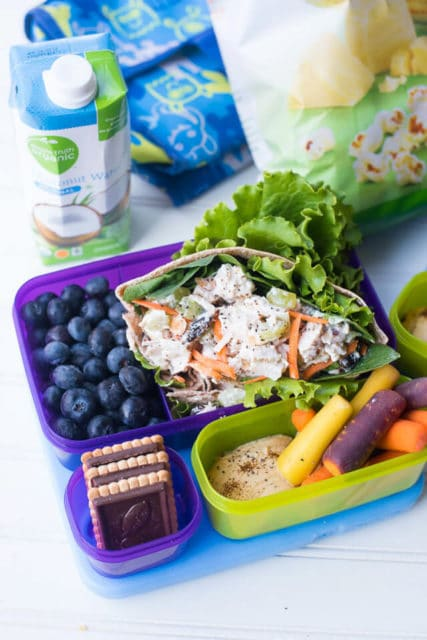 healthy lunch bagged salad easy chicken salad pitas