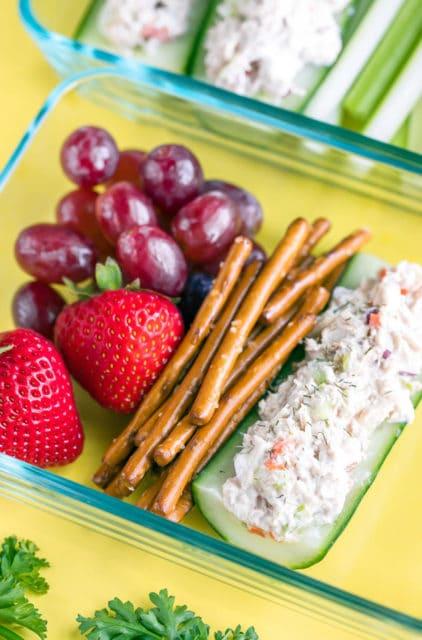 tuna salad cucumber boats recipe