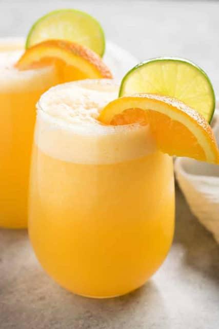 frosty orange margaritas