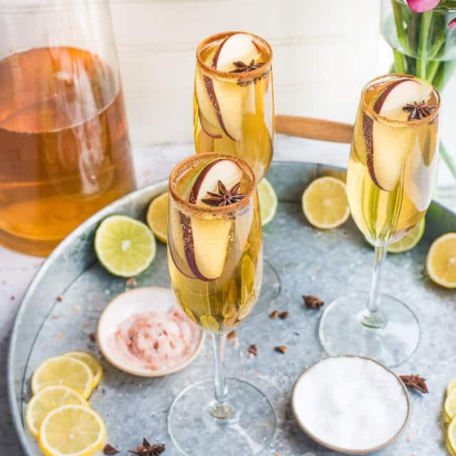 apple cider champagne margaritas
