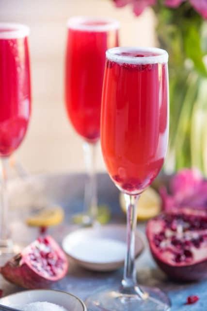 pomegranate champagne margaritas