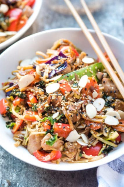 almond chicken stir fry