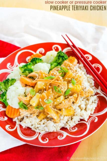 pressure cooker pineapple teriyaki chicken