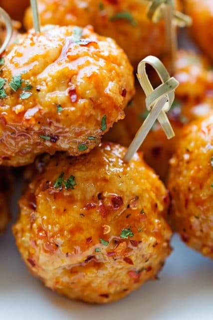 honey garlic teriyaki chicken meatballs