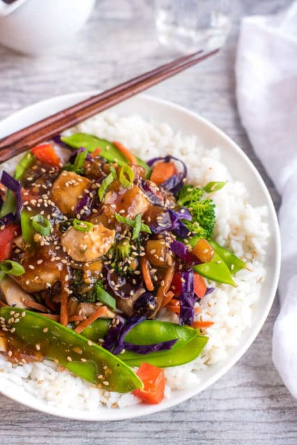 teriyaki chicken stir fry