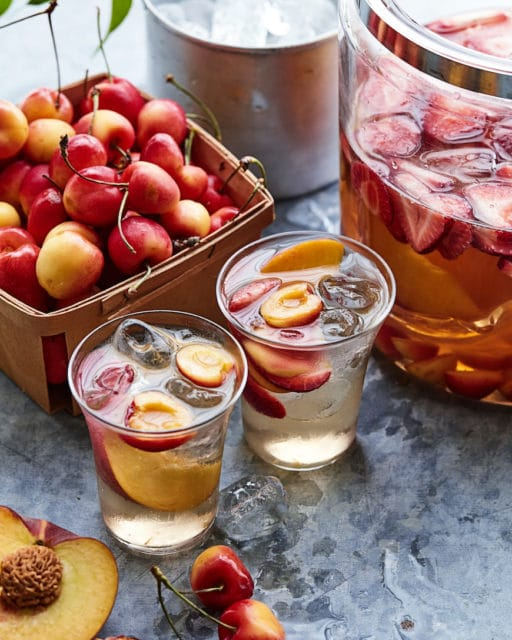 stone fruit and strawberry sangria recipe