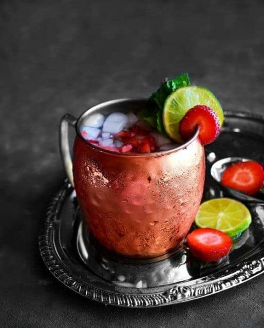 strawberry basil Mule
