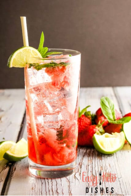 no alcohol strawberry mint mojito