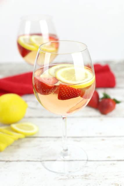 lemon rose sangria