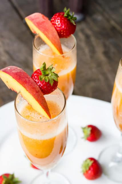 strawberry peach bellini