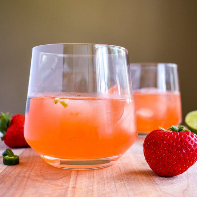 strawberry lime gin cocktail