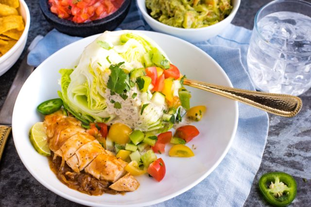 Chicken Fajita Wedge Salad