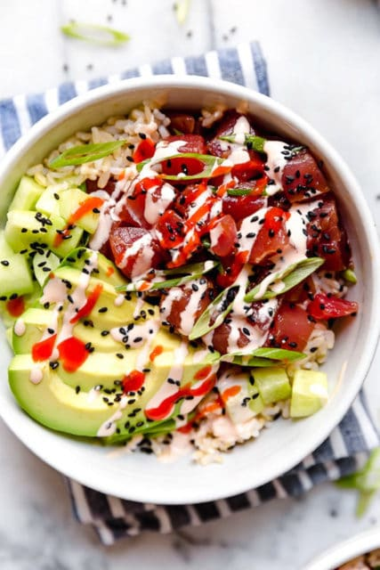 Spicy Tuna Poke Bowl