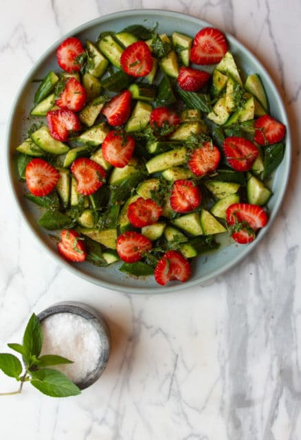 Strawberry & Cucumber Salad