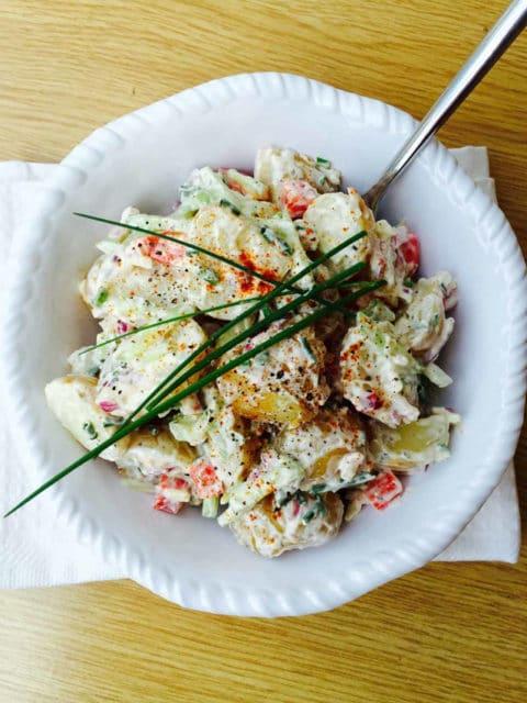 Potato Cucumber and Garlic Salad
