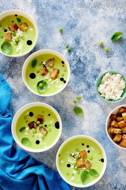 Cold Pea and Cucumber Soup