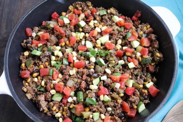 Tex-Mex Beef and Zucchini Skillet