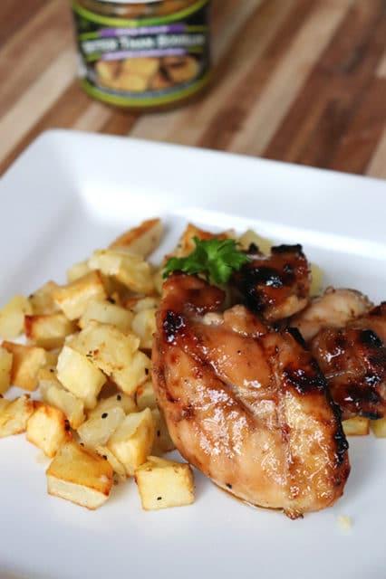 Grilled Chicken Thighs with A Brown Sugar Glaze