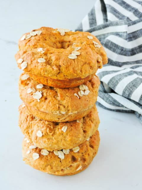 Healthy Easy Pumpkin Spice Bagels