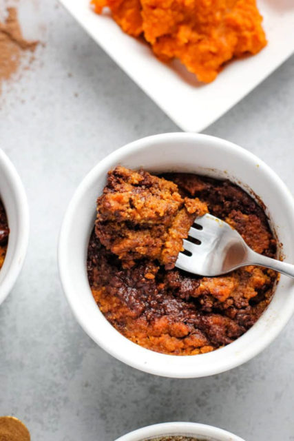 Chocolate Pumpkin Mug Cake Recipe