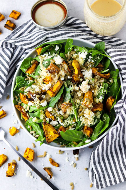 Roasted Pumpkin Feta Salad Recipe
