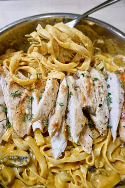 Pumpkin Chicken Alfredo Recipe