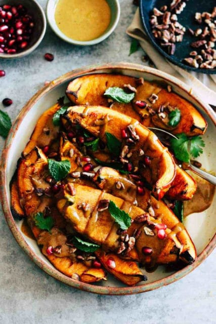 Roasted Pumpkin with Curried Tahini Sauce Recipe