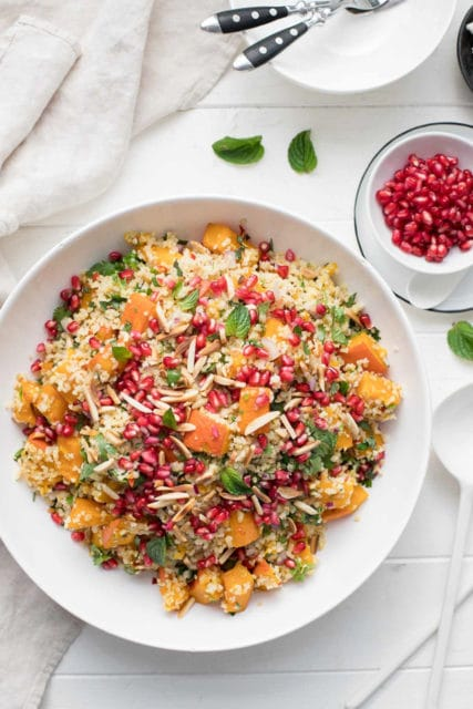 Ginger Chilli Pumpkin Roasted in The Oven with Bulgur Salad Recipe
