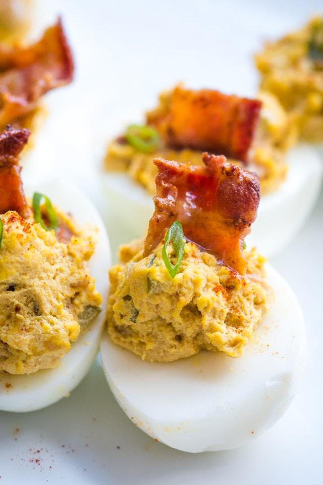 Bacon Deviled Eggs Recipe The Adventure Bite