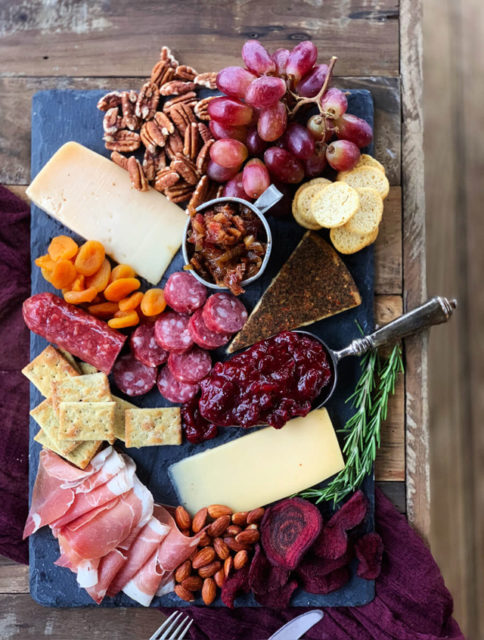 Gourmet Cheese Board with Homemade Bacon Jam
