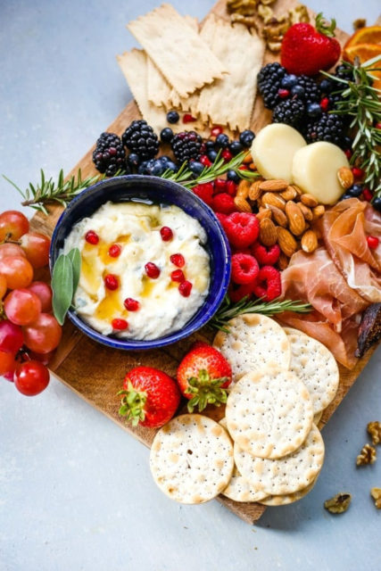 Holiday Cheese Board with Sage Honey Ricotta