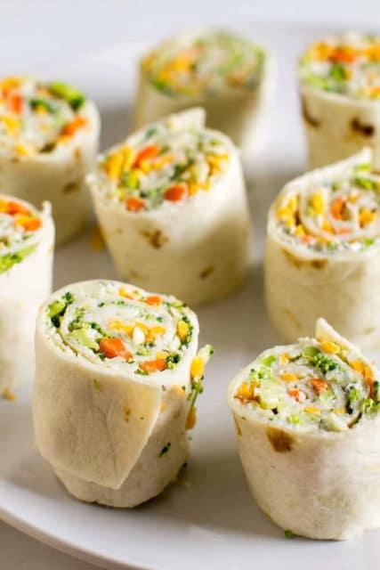 Vegetable Tortilla Rollups