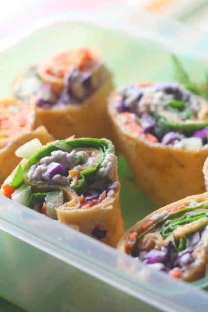 Rainbow Lunchbox Pinwheels