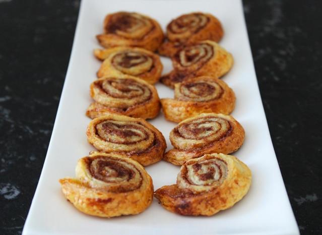 Cinnamon Sugar Puff Pastry Pinwheels