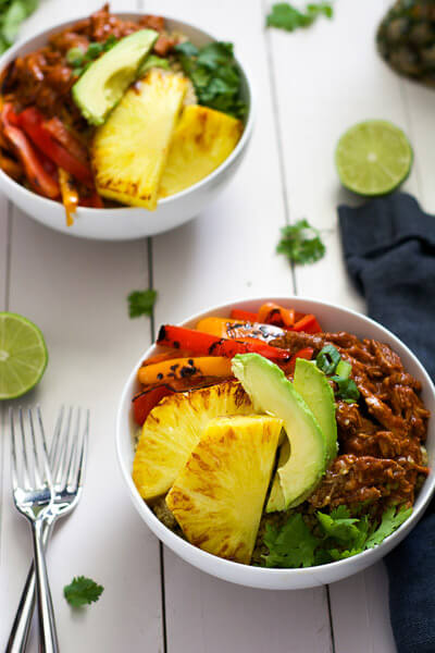 Slow-Cooker-Hawaiian-Pork-Burrito-Bowls-2