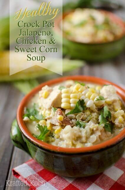 jalapeno chicken sweet corn soup