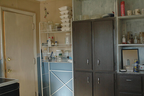 Painted Kitchen Cabinets Before and After…