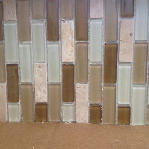 How to Tile A Glass Mosaic Backsplash Over Paneling