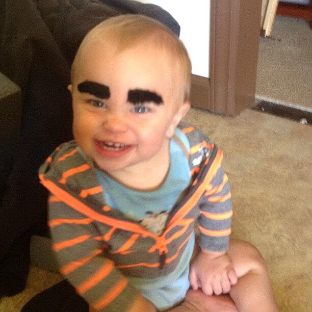 Noah's Crazy Eyebrow Party